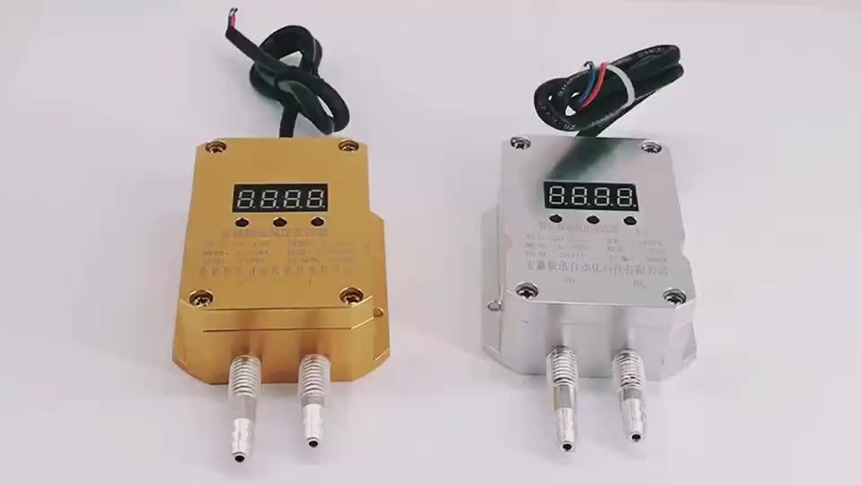 Dijital Rüzgar diferansiyel basınç vericisi Sensörü 4-20mA Hava diferansiyel basınç vericisi