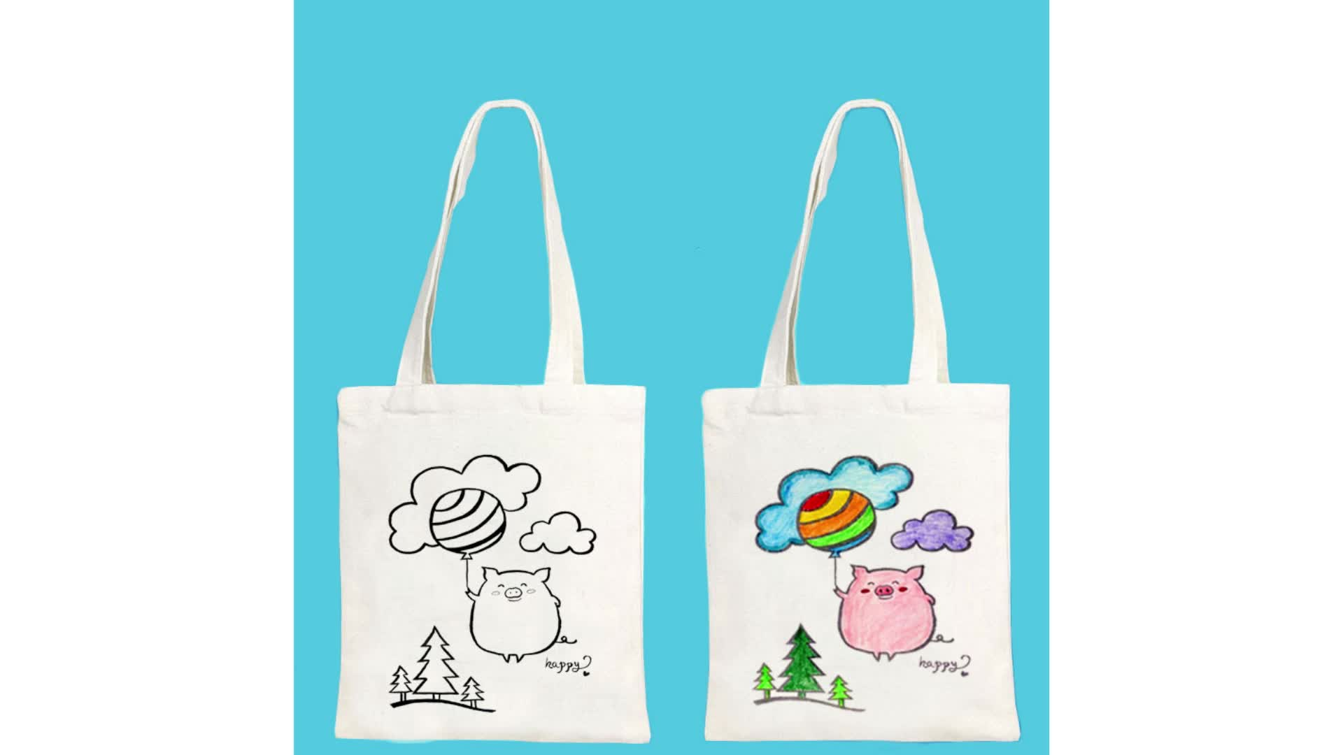 Custom Promotional Printed Cotton Shopping Organic Reusable eco friendly  Canvas Tote Bag