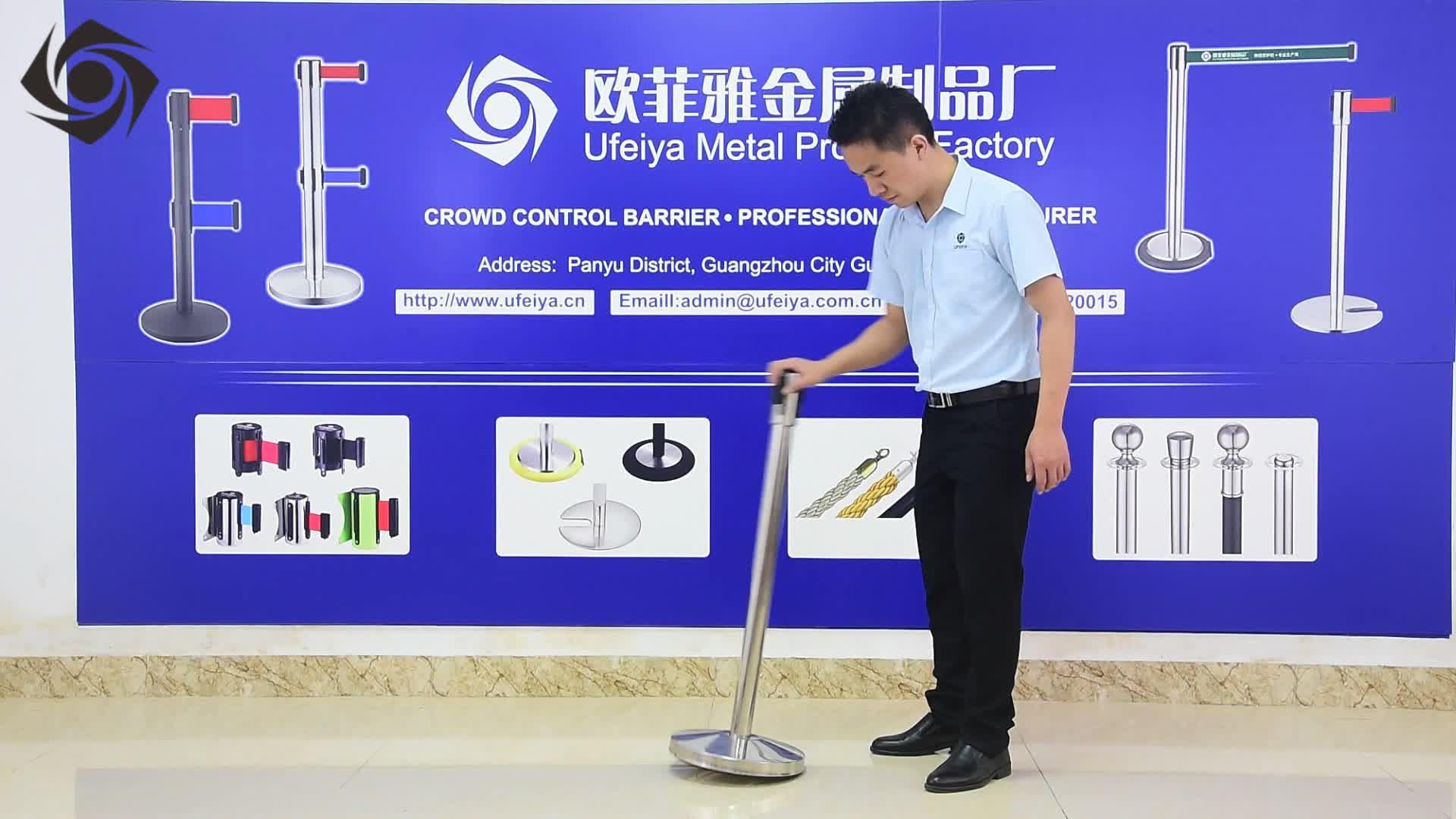 Китай производство оптовая регулируемая стойка двойной выдвижной ремень барьер стойки