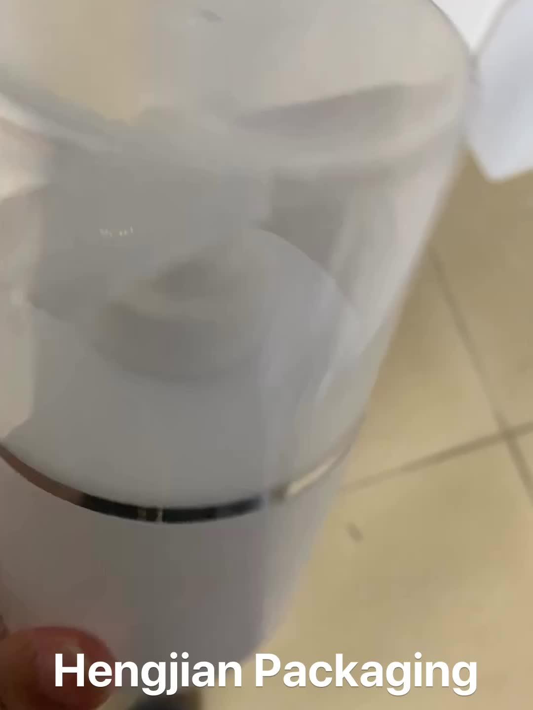 Hengjian ausgestattete 300 ML HDPE weiß kunststoff haar hautpflege verpackung shampoo flasche mit lotion pumpe und kappe