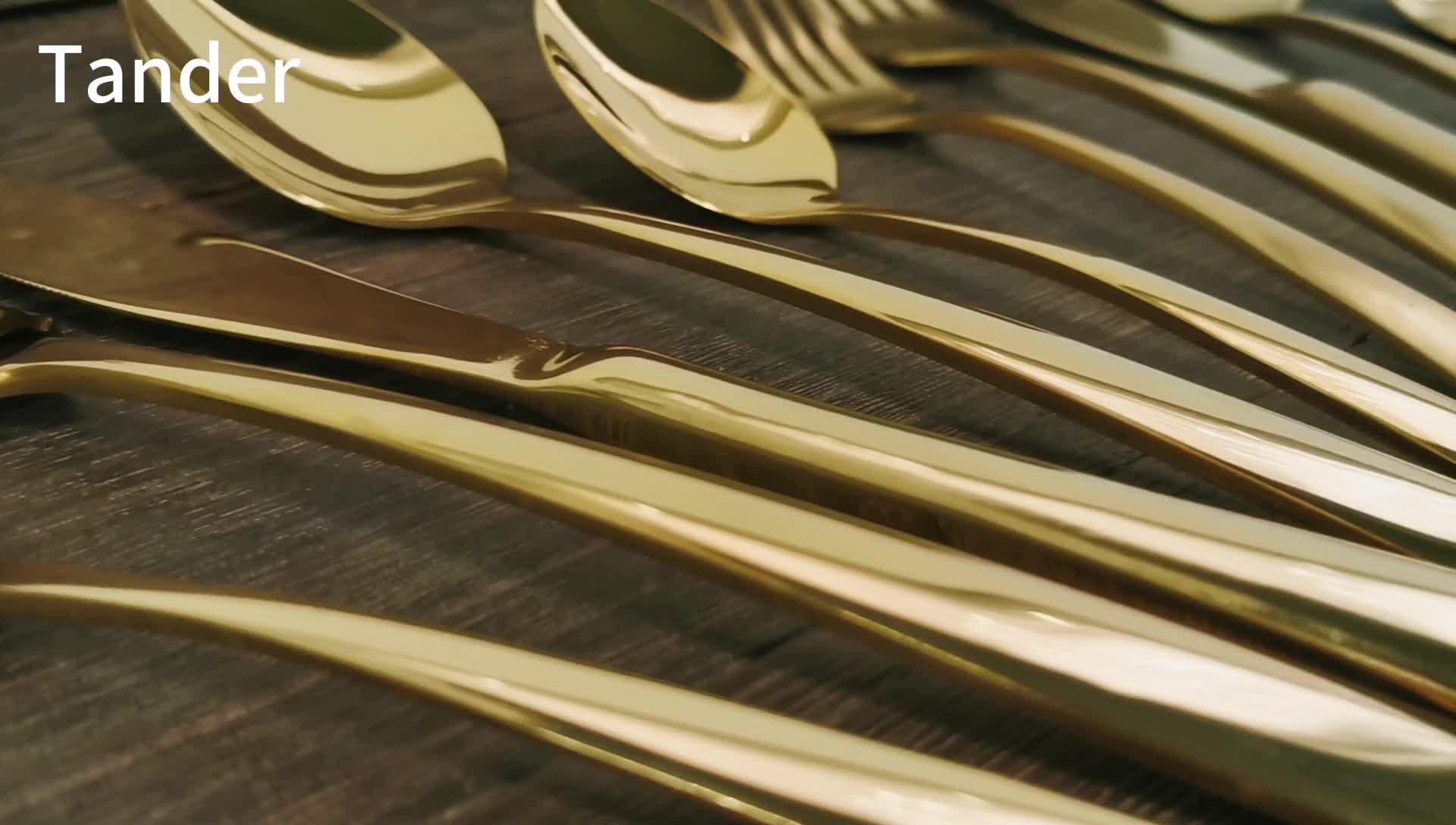 Conjunto de talheres de Aço Inoxidável Talheres Talheres De Metal Para O Hotel
