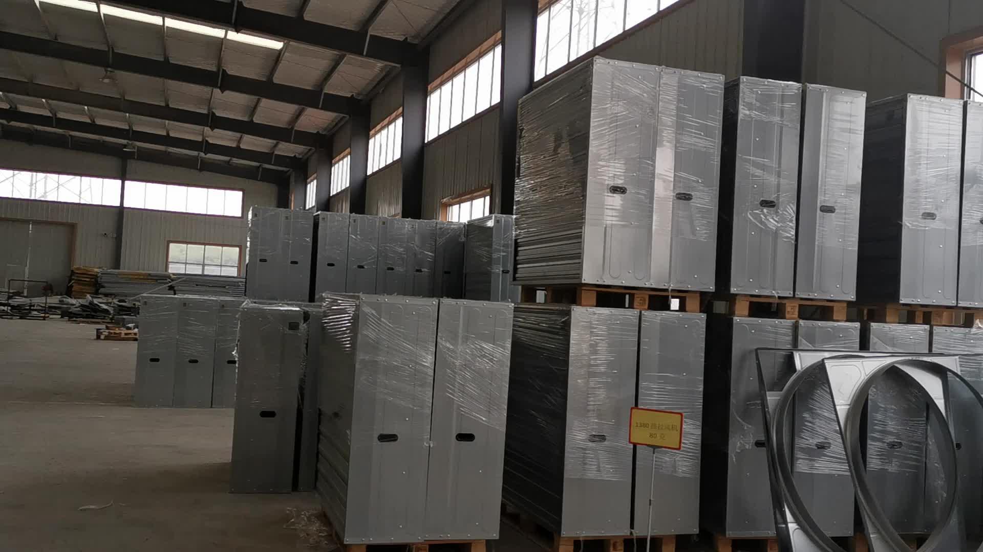 เรือนกระจกBlower Inติดตั้งประเภทCooling PadสำหรับAirระบายความร้อนและระบายอากาศ