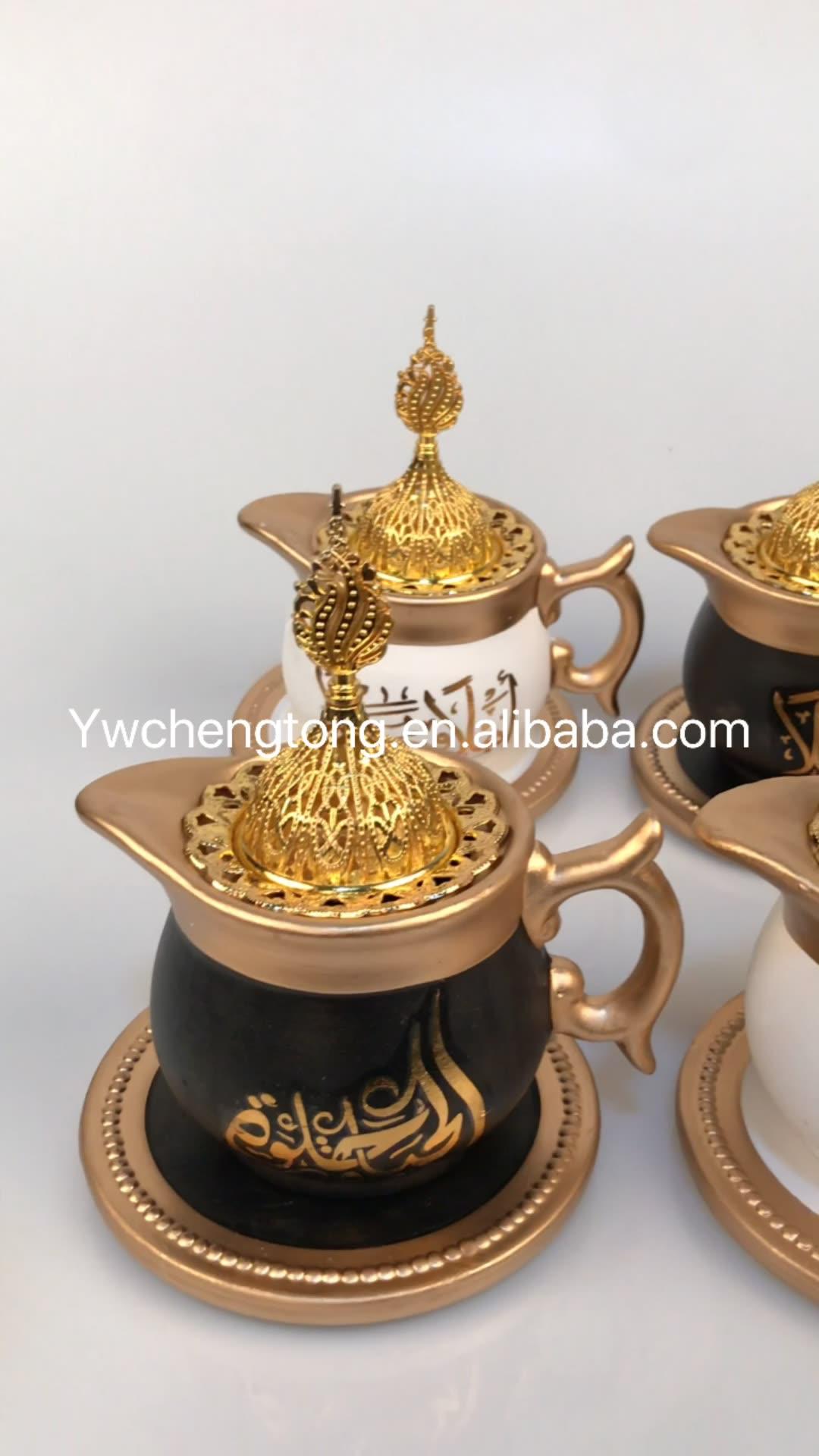 2020 New Crystal Styles Ceramic Mubkhar Arabe Incense Burner Wholesale