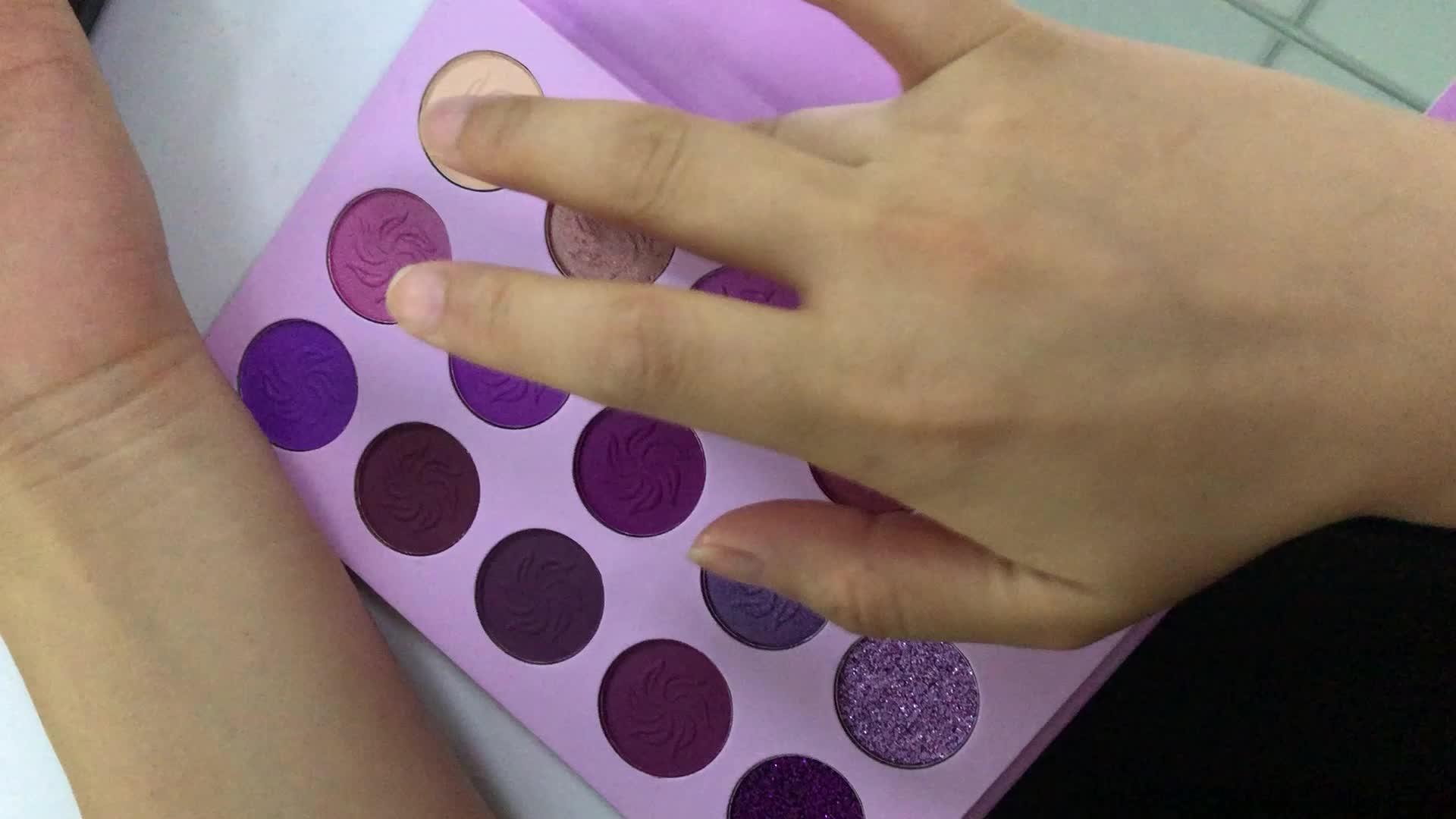 कॉस्मेटिक मेकअप 15 रंग थोक चमक आंखों के छायाएं पैलेट प्रिंट अपने निजी लेबल आंखों के छायाएं
