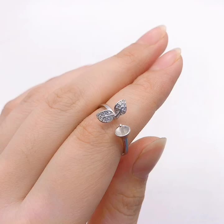 wholesale 925 stamped silver ring with custom made logo design wedding ring for women