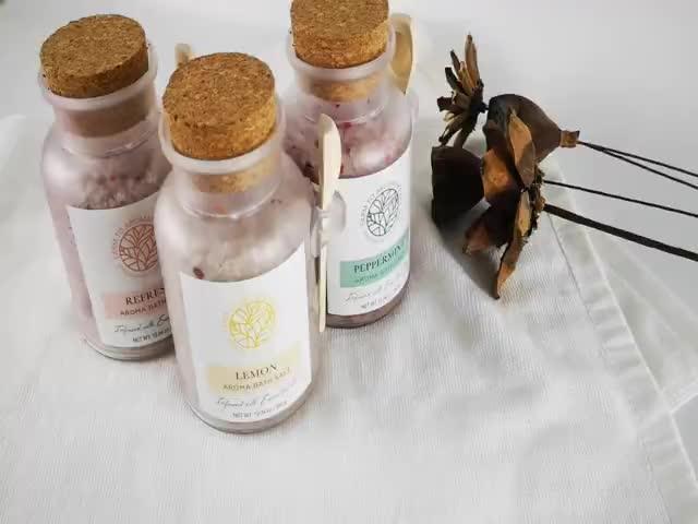 300g Peeling und bleaching funktion organische himalaya rose blütenblätter bad salz mit holz scoops