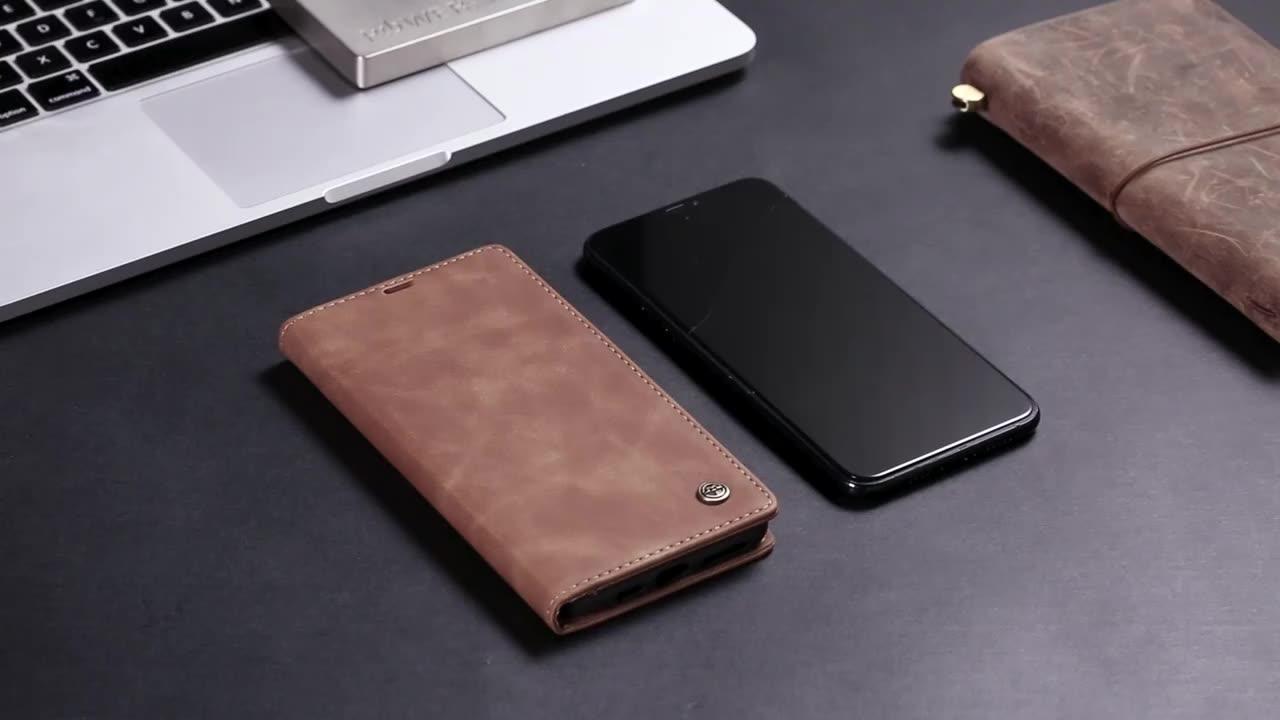 Caseme Produk Baru 2020 Kulit Phone Case untuk Xiaomi Mi 10 9 Redmi Note 8 K20 K30 Pro Dompet Case
