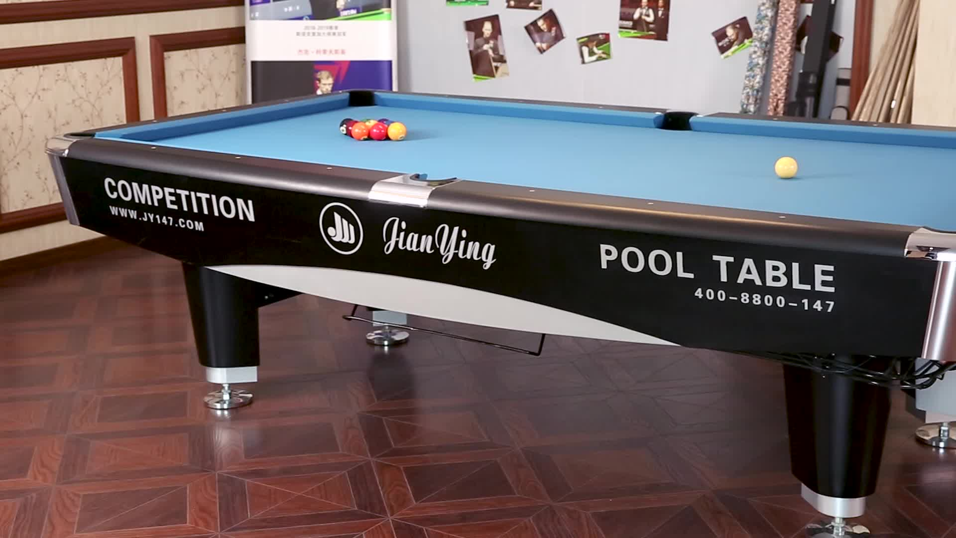 Hot Selling Professional Stainless Steel Leg Cushion 8 Ball Pool Table Slate