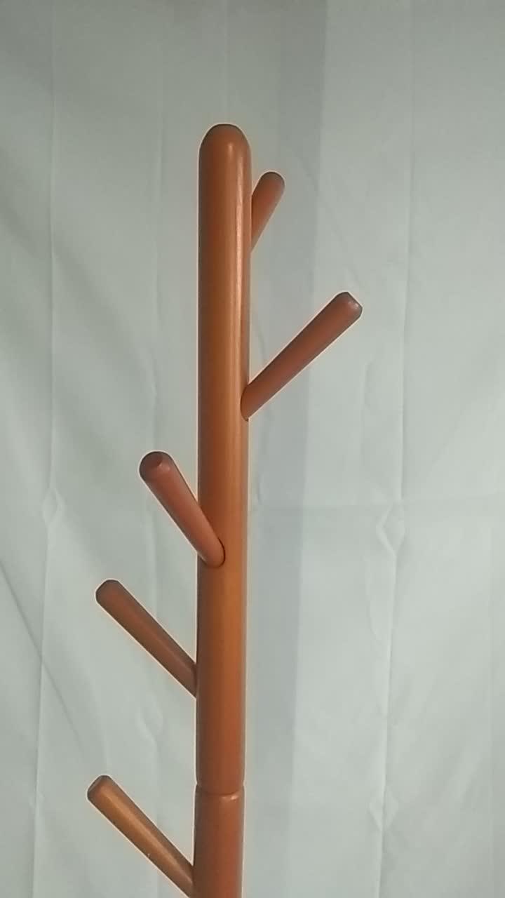 รับประกันผู้ผลิต Coat Hanger Stand ขายคุณภาพสูงไม้ Coat Rack OEM
