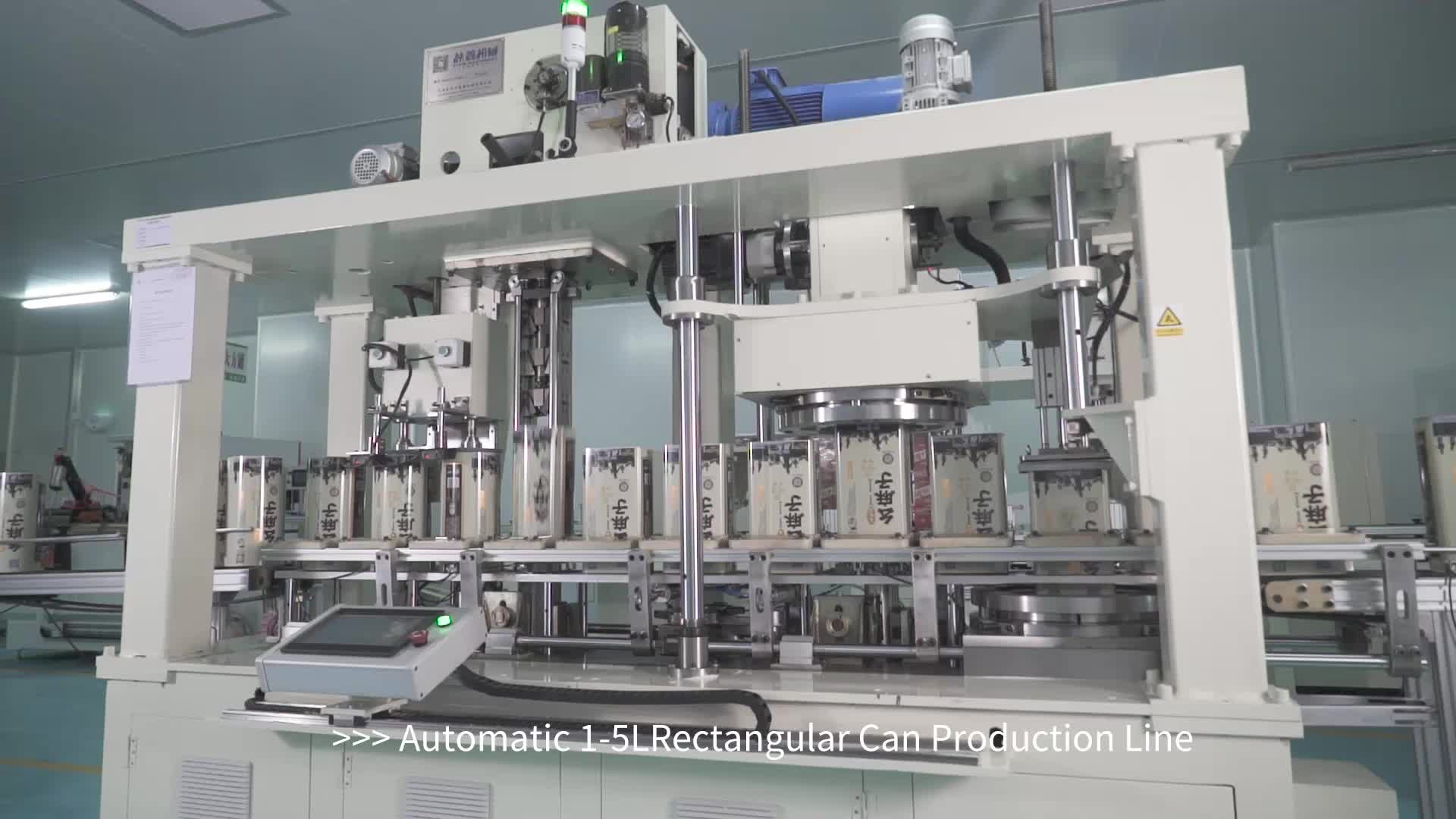 Yixin Technology 1-5L Automatic square can making machine
