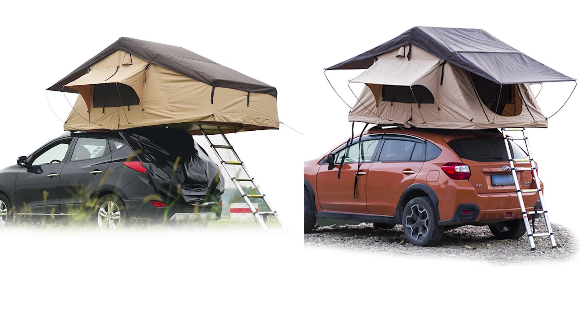 HOMFUL Universal Foldable Car Roof Top Tent Camping Outdoor with free ladder