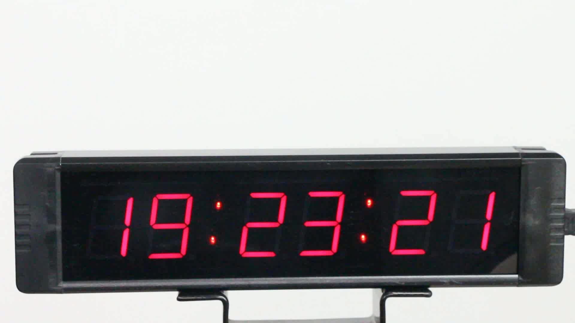 Ganxin GI6T-1W 6 digitals 1 inch minitype led clock