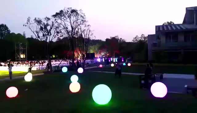 floating led light ball/party decorations solar powered outdoor garden PE plastic led ball light lamp
