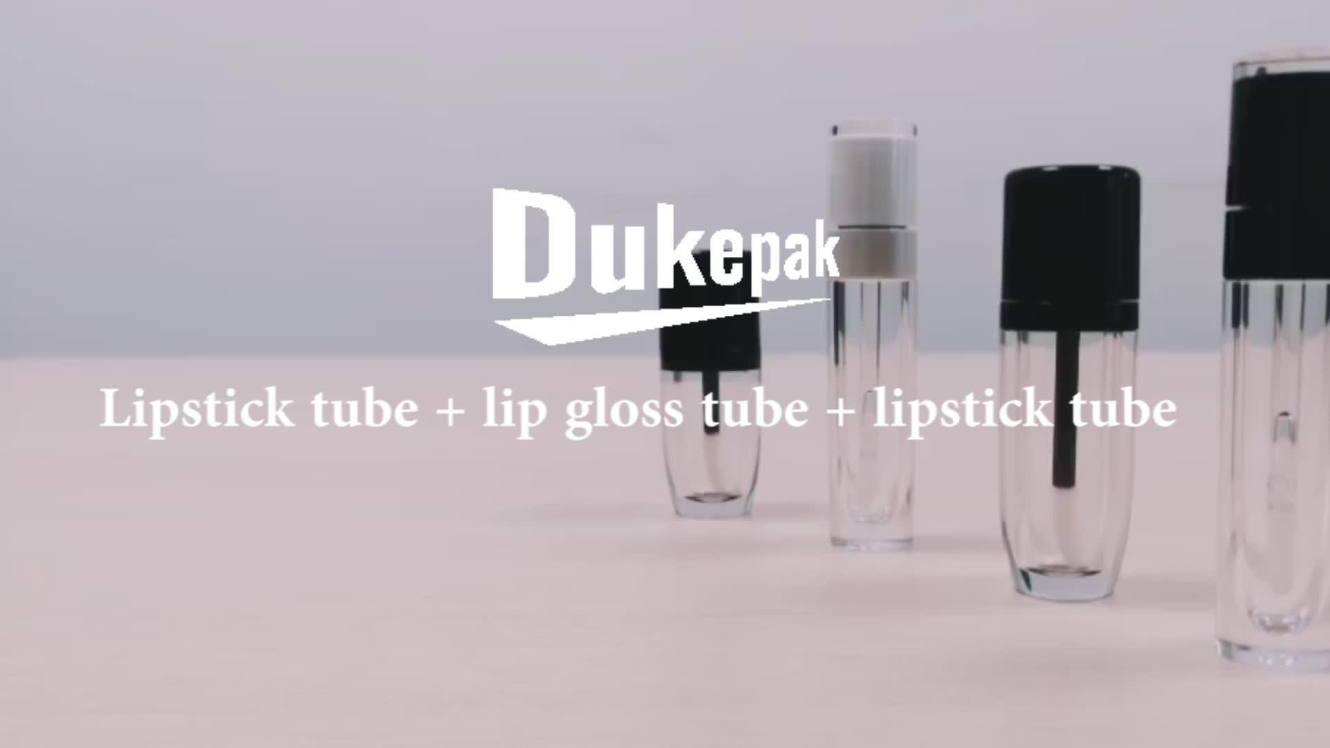 Hot sale 5ml 7ml empty clear lip gloss tube with brush