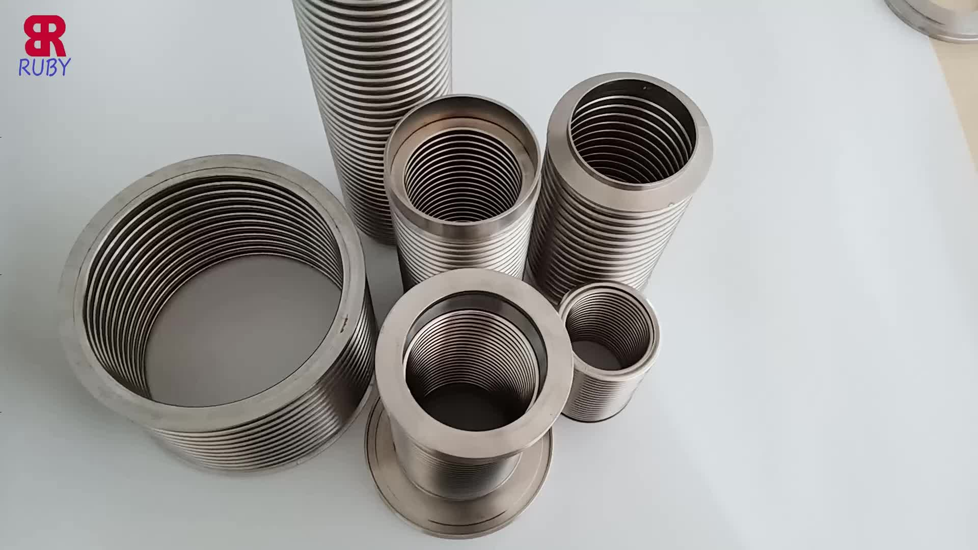 Metal KF-25,ISO-KF Flange Size NW-25, 304 Stainless Steel, Vacuum Corrugated Bellows Pipe Tube
