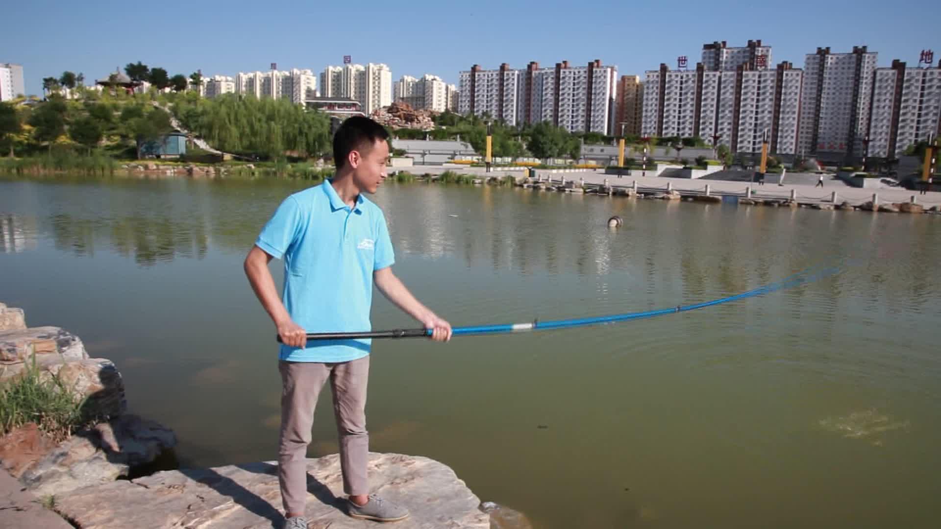 3m/4 m/5 m/6 m/7 m/8 m/9 m pas cher en fibre de verre télescopique la canne à pêche