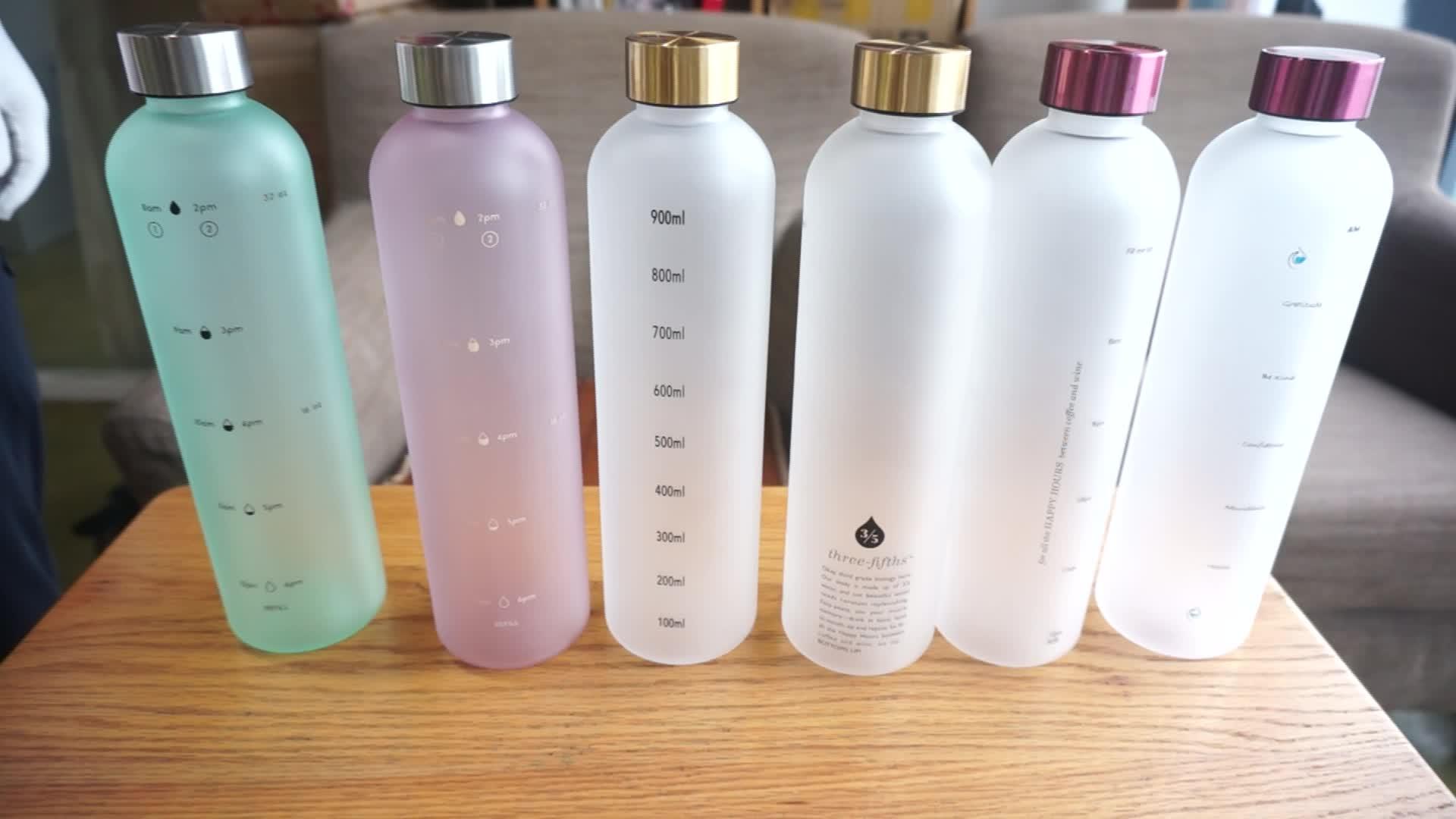 1000 ml bpa मुक्त कस्टम प्रिंट tritan प्लास्टिक खेल पानी की बोतल के साथ तांबा कवर