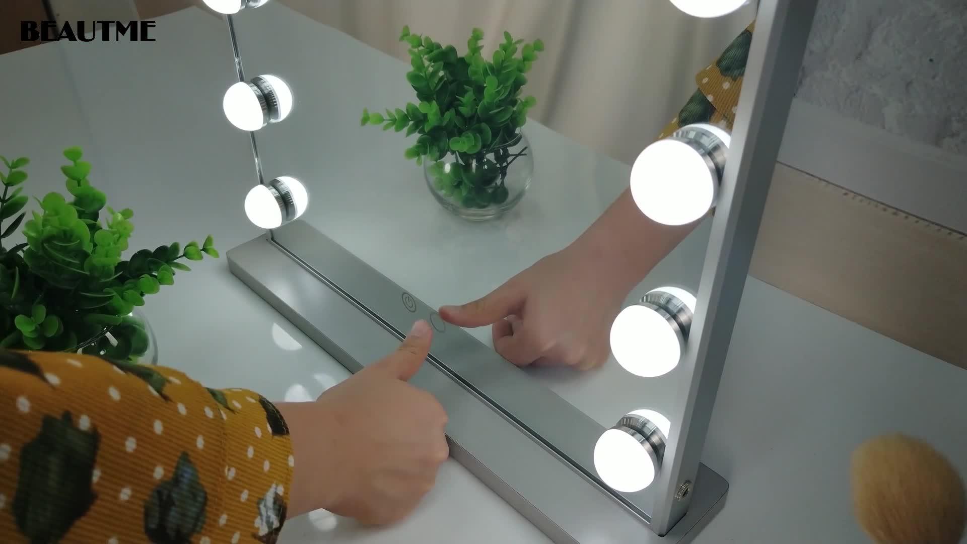 Beautme 15 전구 할리우드 허영 탁상 벽 마운트 뷰티 미러 조광기