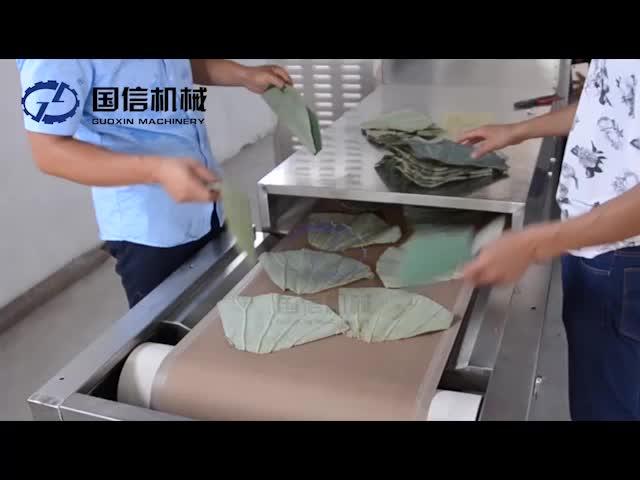 Preço competitivo folha de Lótus industrial máquina de secagem de microondas