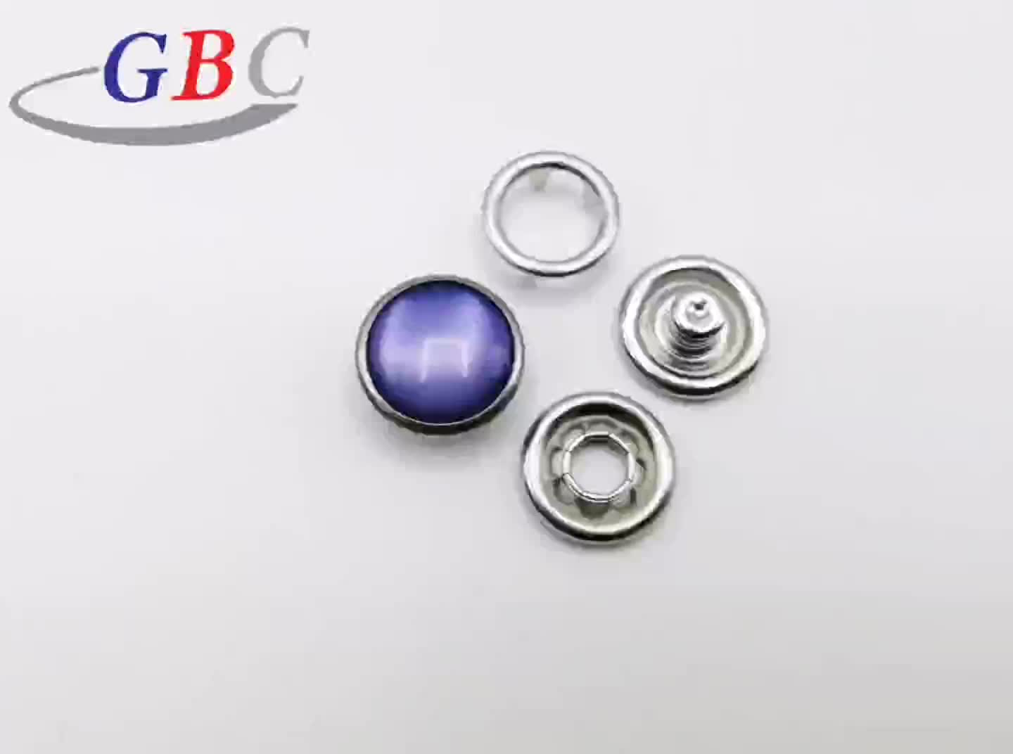333# 11.5mm Children's metal pearl prong snap button