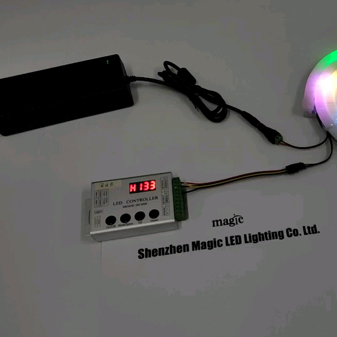 DMX512 WS2811 WS2815B WS2812B SK6812 IC piksel LED SMD5050 adreslenebilir RGB Neon esnek ışık