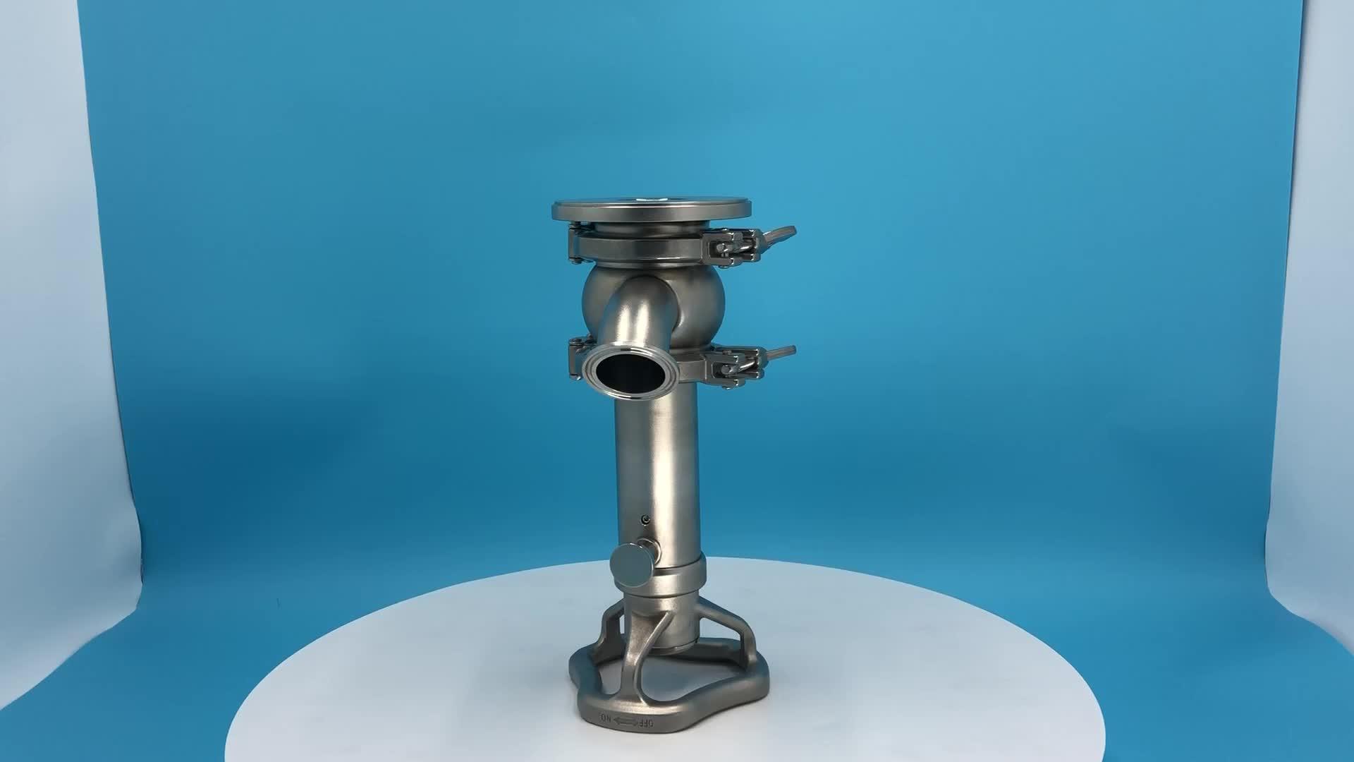 DONJOY Manual tank bottom seat valve inside open