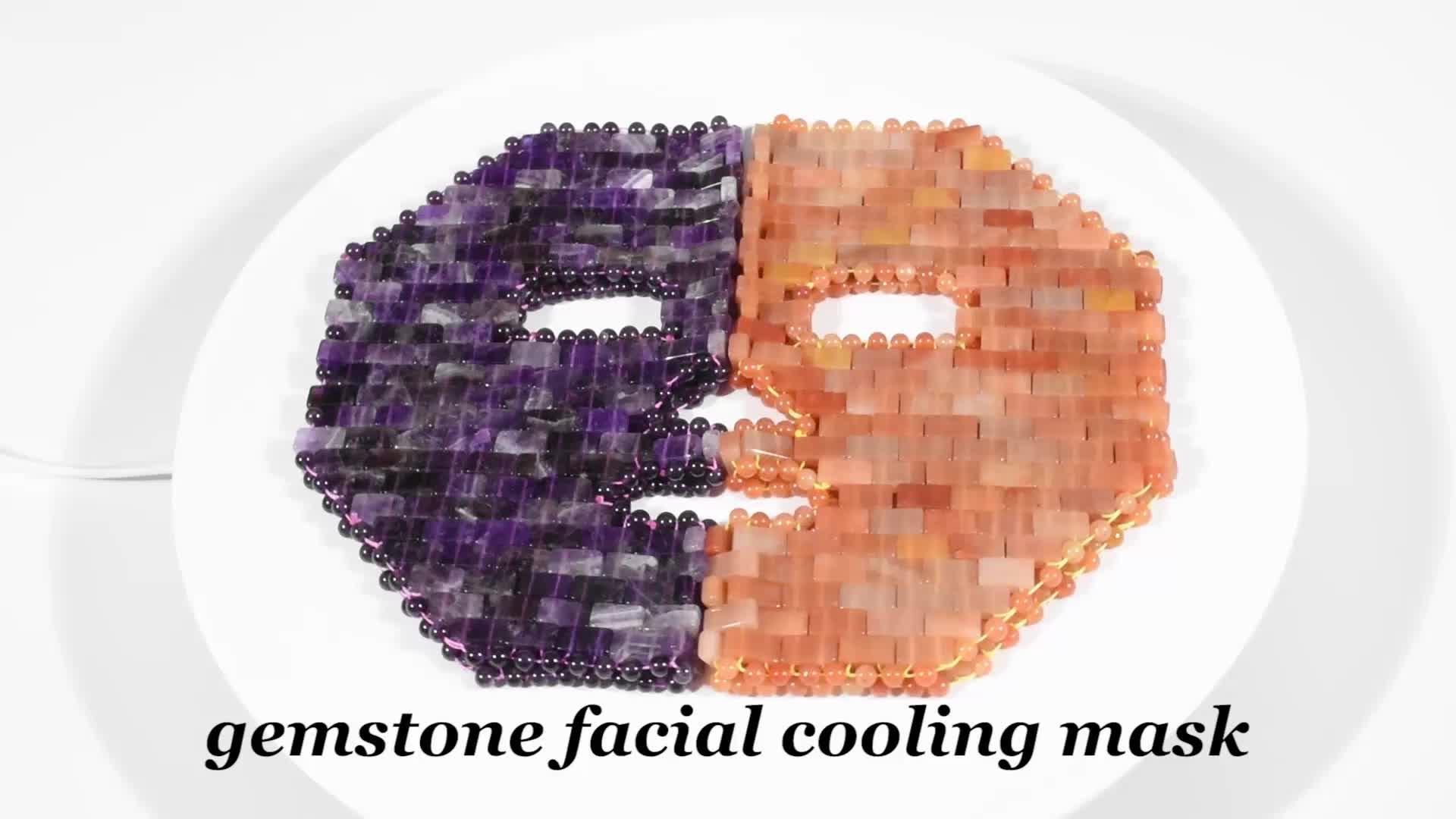 Amethyst rose quartz หยกหน้าเกาหลี face mask สำหรับ skin care