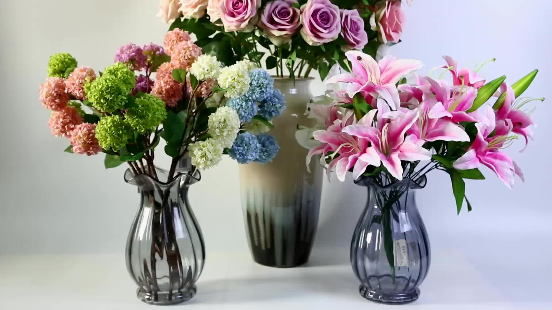 Látex macio do toque real 5 cabeças flor do plutônio tulipa artificial champanhe papagaio tulipa branca para a decoração