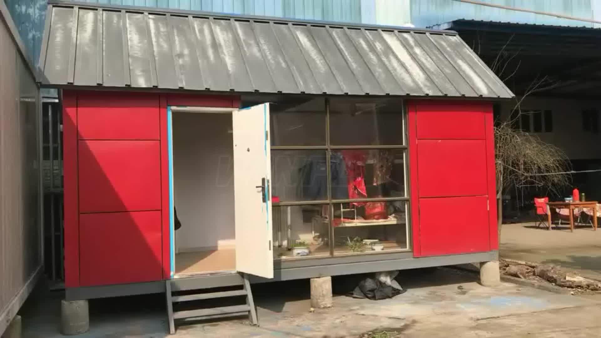 Leichte Stahlkonstruktion Flat Pack Wohnzimmer Unterirdischen Zweistöckige Containerhaus
