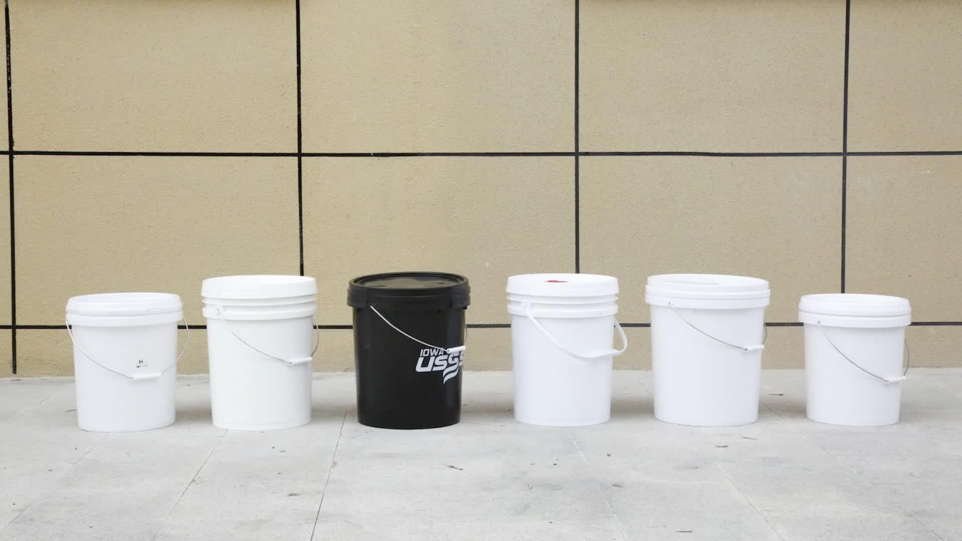 20L 25L Lebensmittel Grade 5 Gallonen 7 Gallonen kunststoff eimer mit griff farbe kunststoff eimer