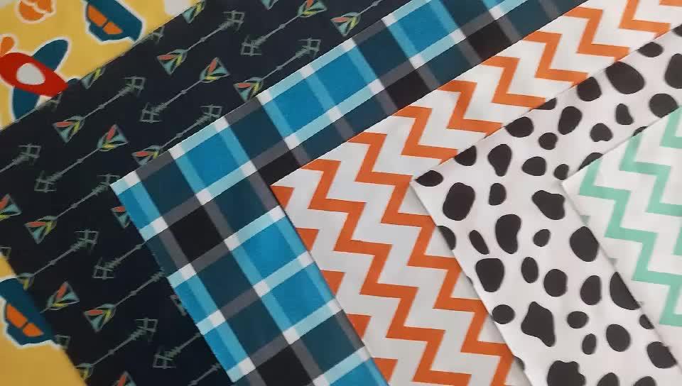 TPU gelamineerd stof fabrikant 100% polyester ontwerp doek luiers PUL stof