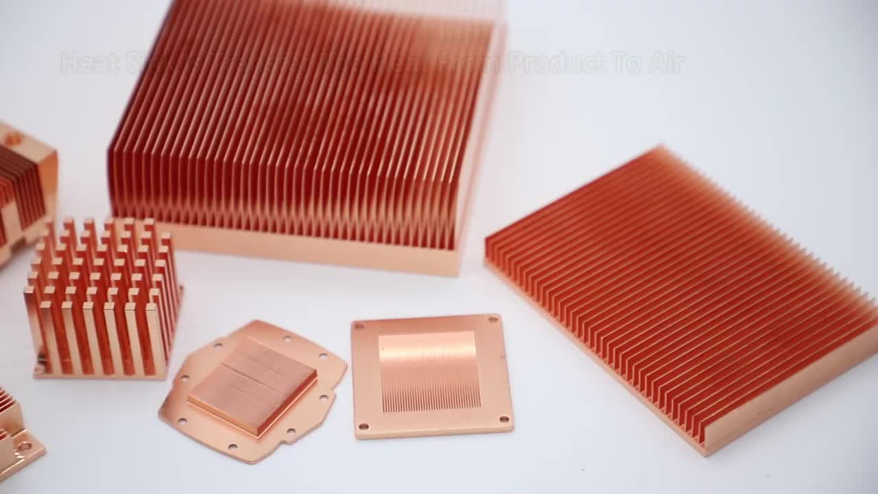 High quality aluminum 6063 & 6061 extruded heat sink