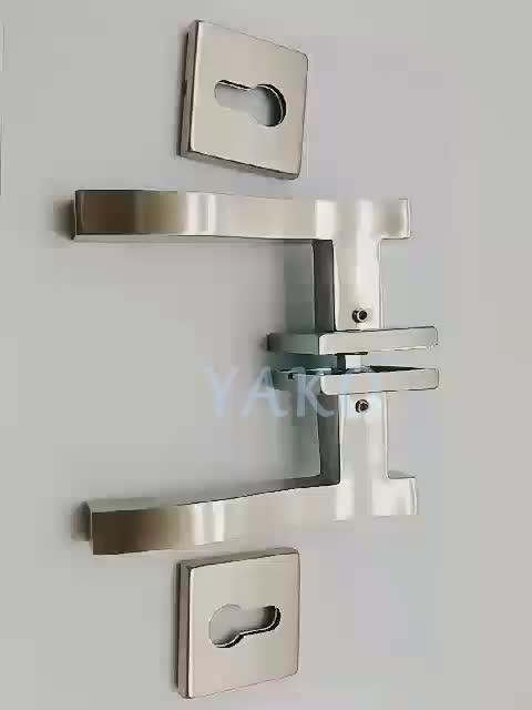 Stainless Steel 201/304  door handle square Tube Lever Handle with escutcheon