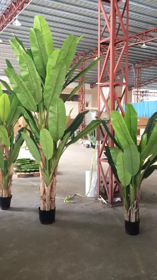 180cm height fiberglass trunk artificial banana tree potted