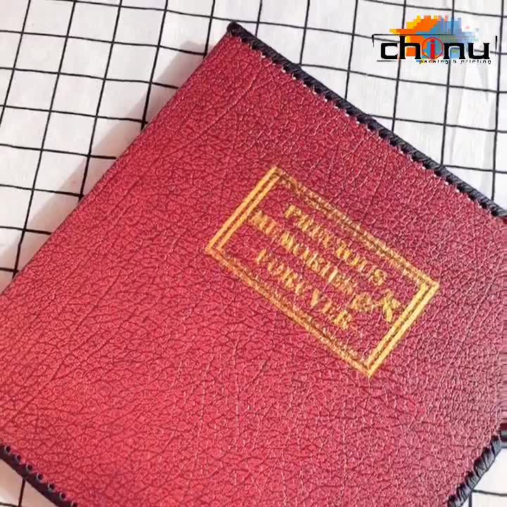 PU leather photo album Vintage handmade family album self-adhesive 12 inch diy paste type film album