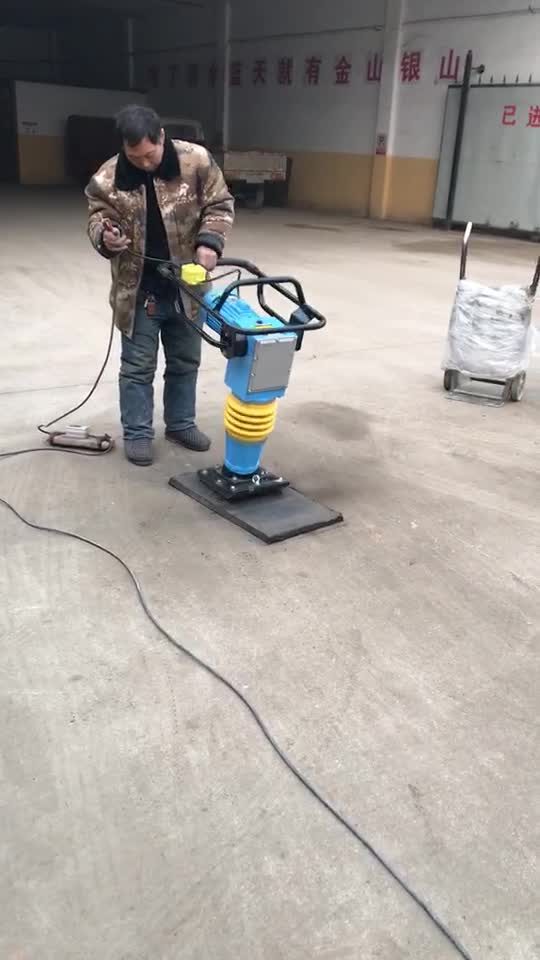 High frequency vibrating jumping tamping rammer concrete jumping jack tamper gasoline vibrating plate compactor with low price