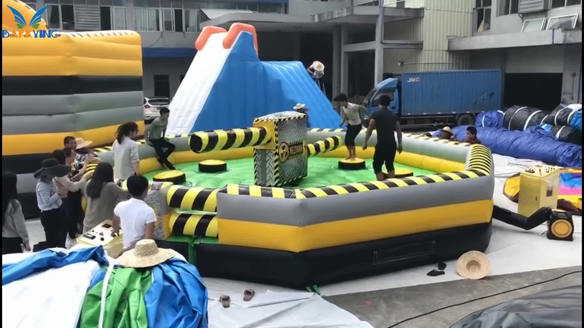 Best quality 18OZ pvc tarpaulin inflatable sport game product, inflatable meltdown, wipeout obstacle course