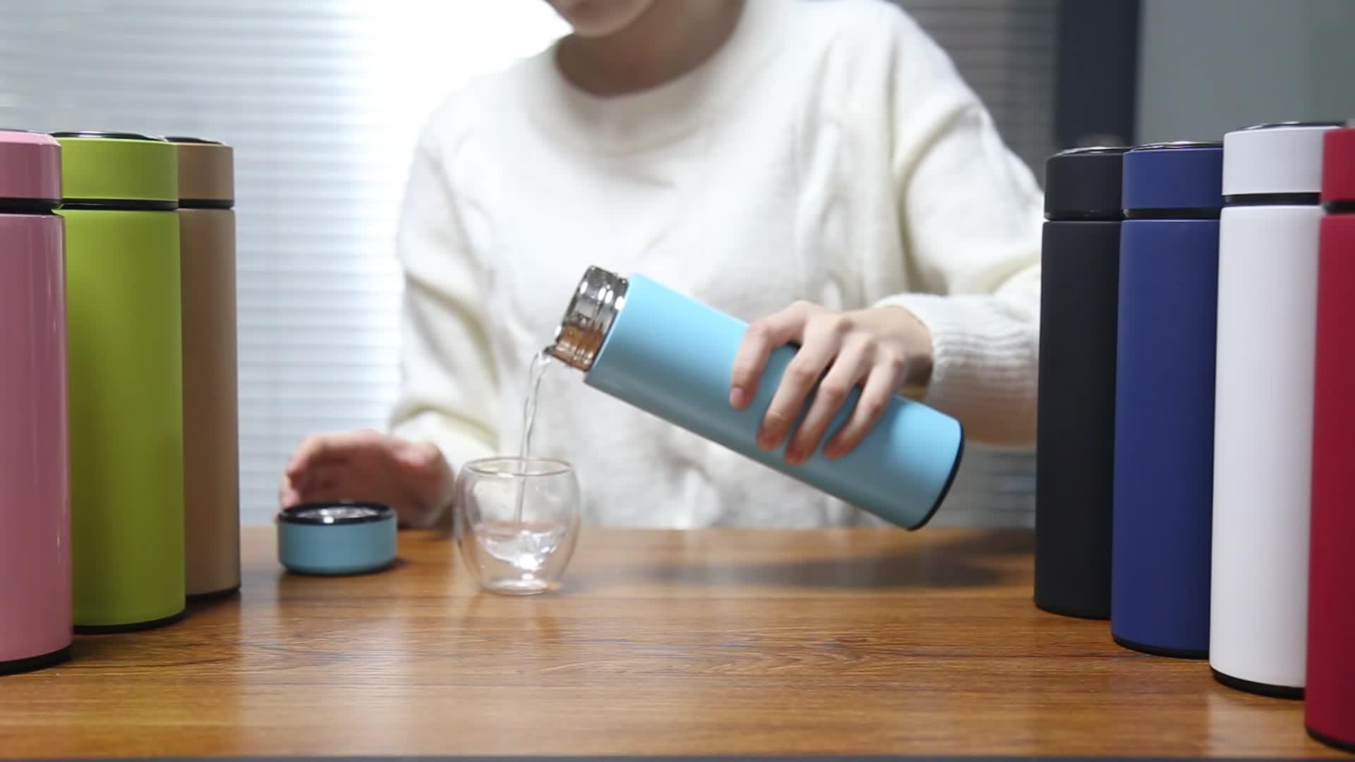 Healthy double wall ส่วนบุคคลฉนวนใหม่สูญญากาศน้ำดื่ม travel reusable ขวดสแตนเลส