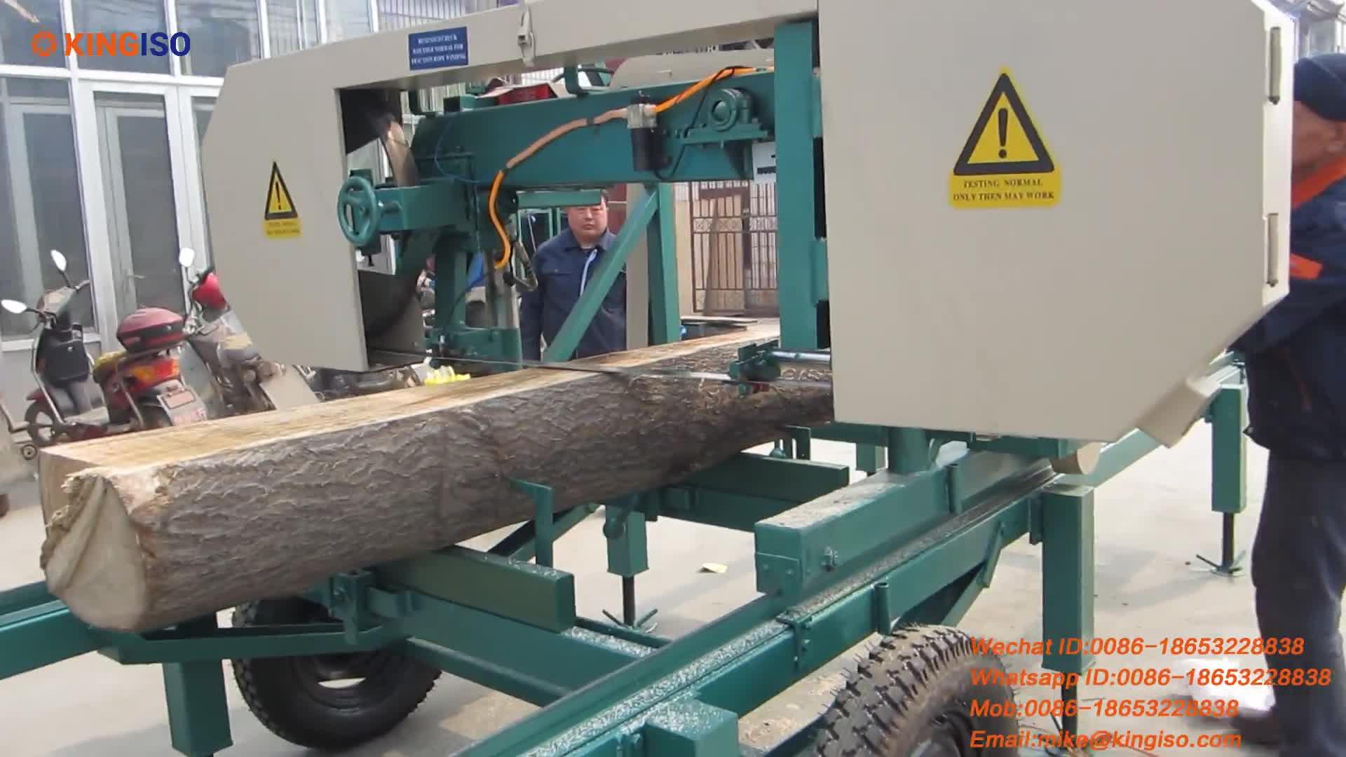 MJ800 diesel Horizontal portable band sawmill