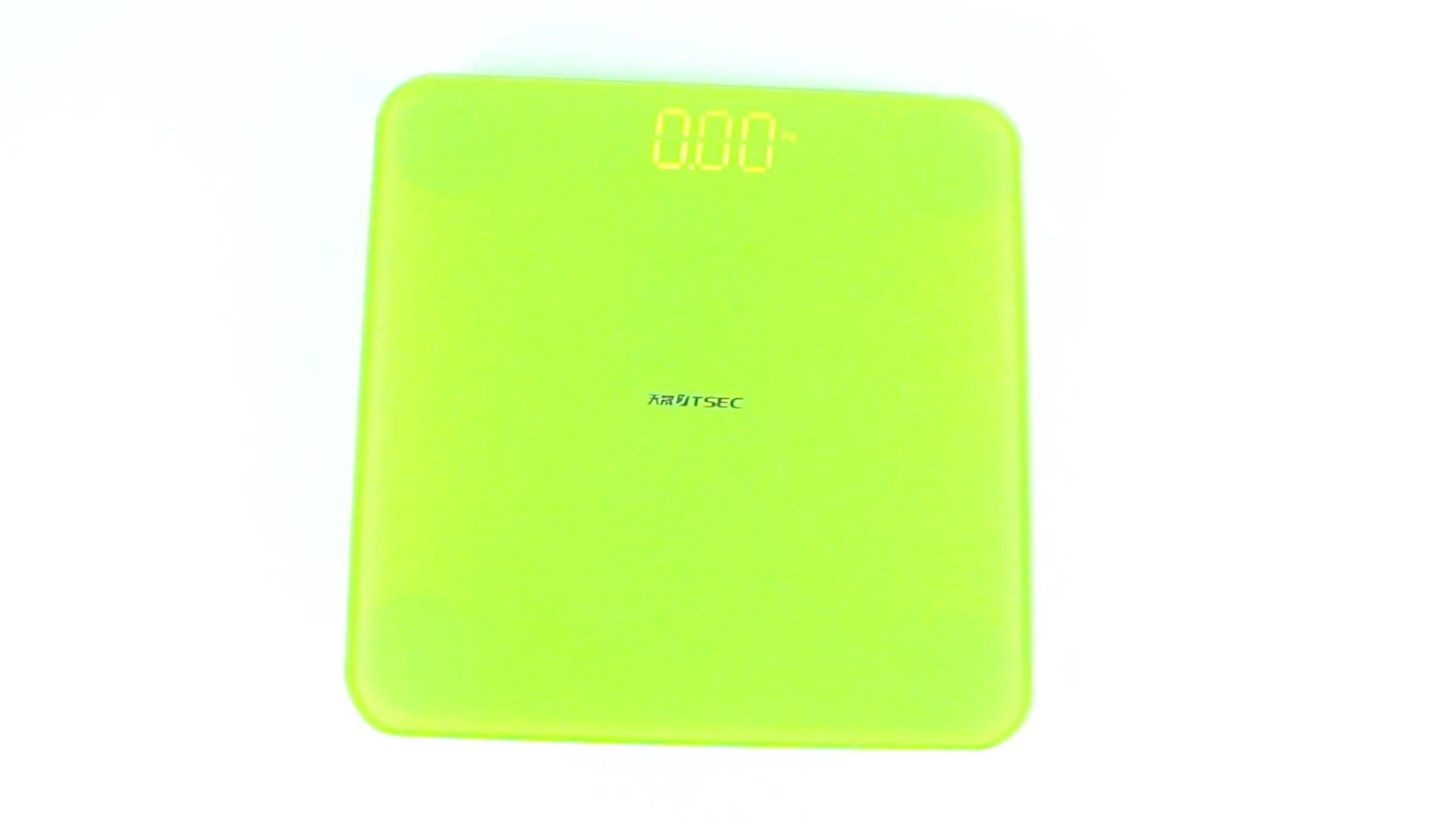 אנטי להחליק פונקציה דיגיטלי שקילה סולם אמבטיה מזג זכוכית אלקטרוני איזון סיטונאי אמבטיה במשקל