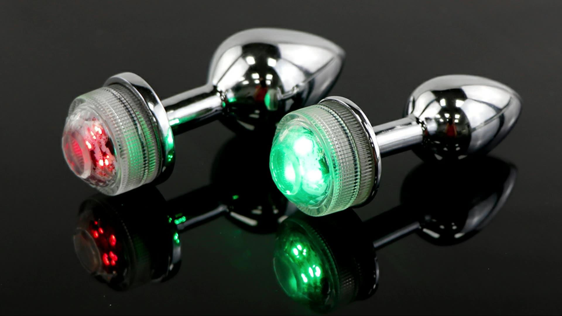 Nueva llegada LED de colores de luz de Control remoto decoloración a tope de acero inoxidable ano cuentas masajeador de próstata
