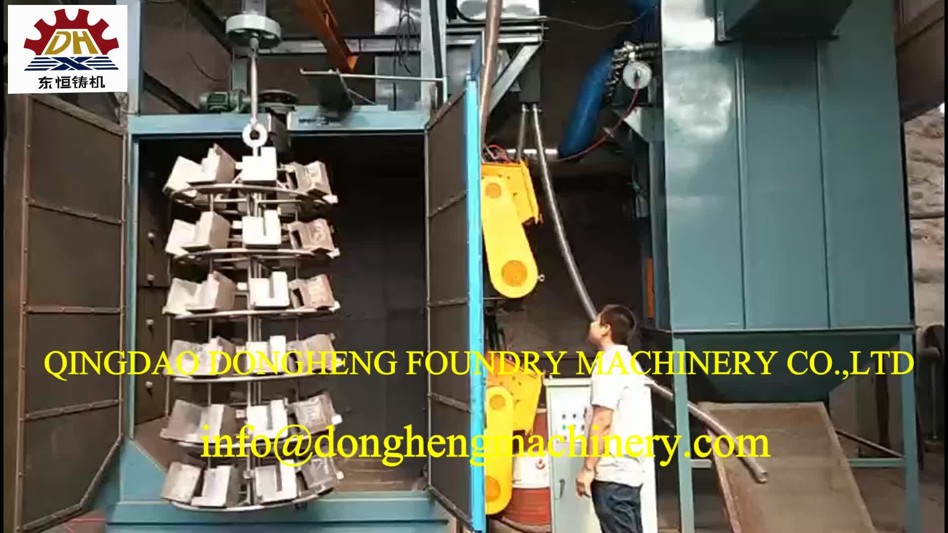 Casting Iron Heavy Auto Truck parts rear brakes brake drum Shot Blasting Machine