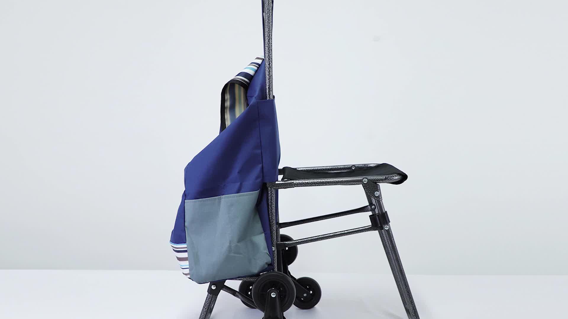 Leggero per uso domestico sacchetto di acquisto pieghevole carrello con built-in Trolley