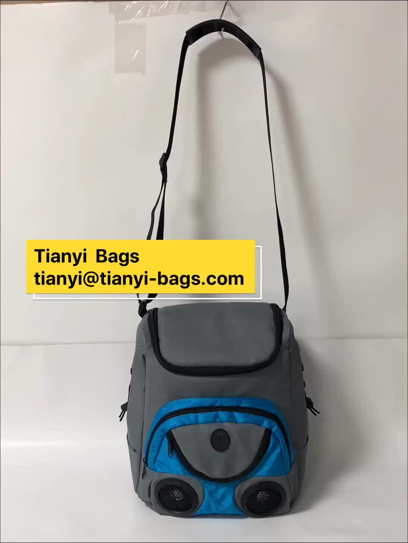 custom freezer ice pack water-resistant speaker cooler bag