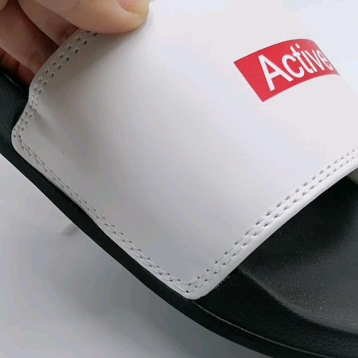 Slides Women Wholesale Pu Slippers For Lady  Pu Man Slipper Blank Color PU Foam Slippers Black Flip Flops Size EU36-41#