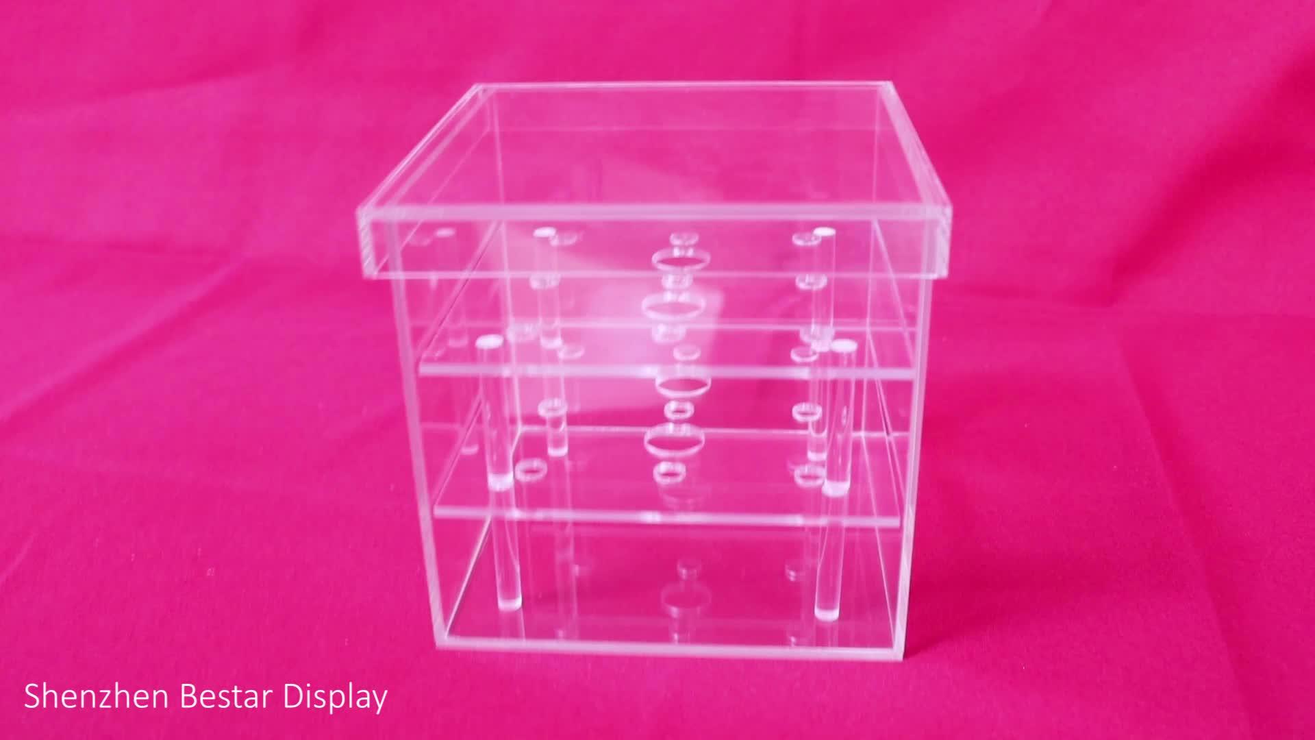 Transparant plexiglas makeup box clear cosmetische make up acryl organizer