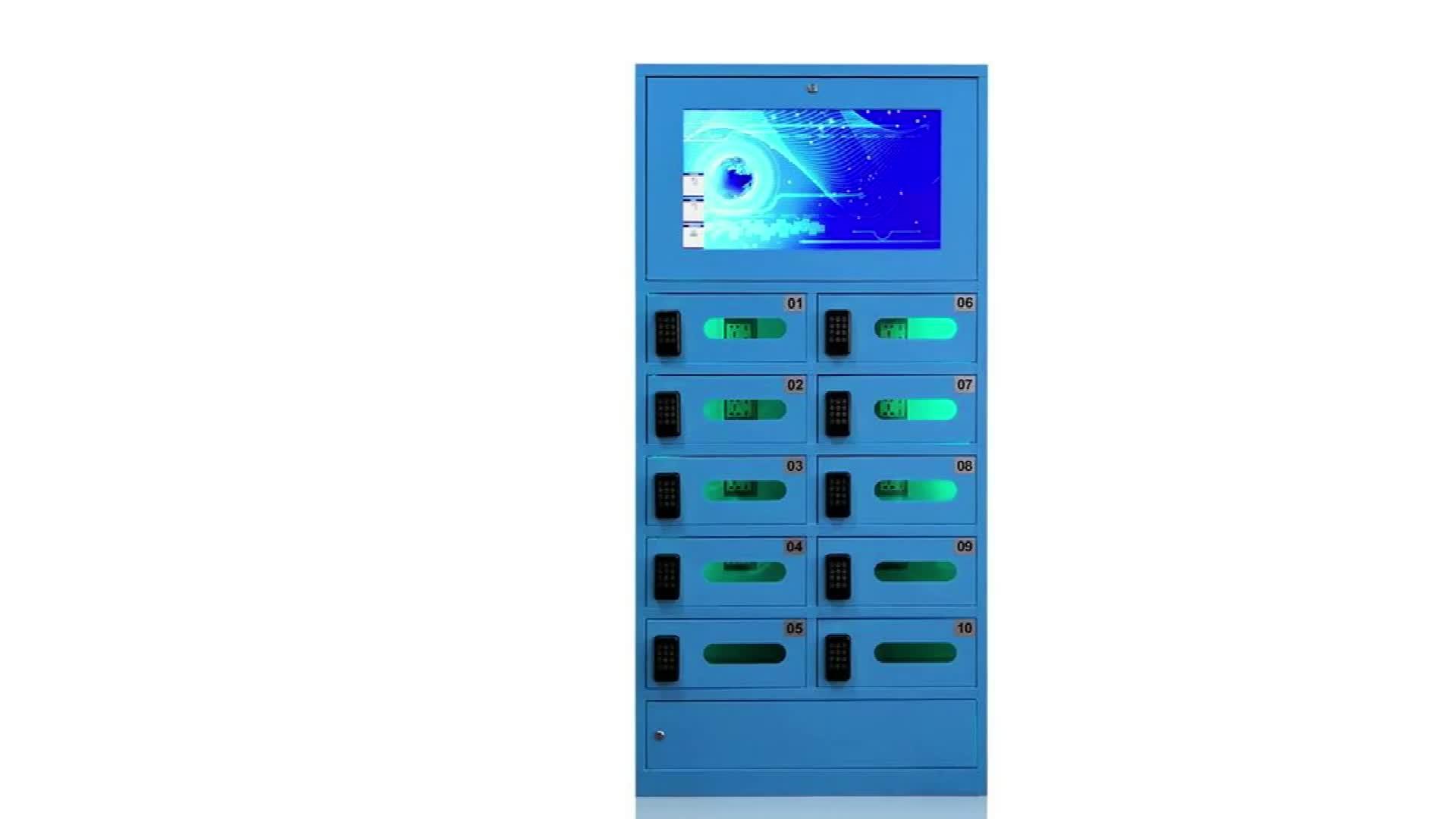 Distributeurs automatiques multifonctions téléphone portable station de recharge casier