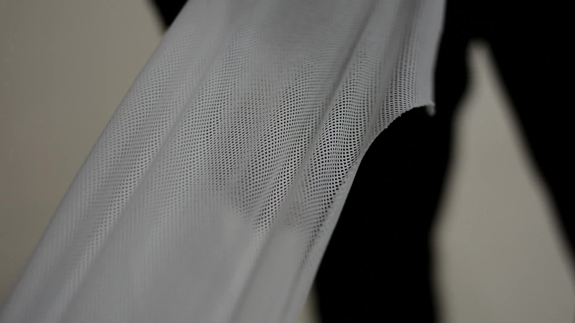 160gsm DTY75D36F 100% polyester knitted mesh fabric for tshirt