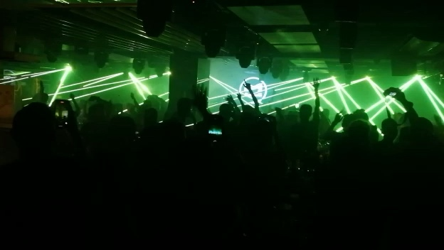 Mini 6W RGB dj del laser per il partito di animazione di Luce Laser proiettore mostra night club illuminazione della fase della discoteca