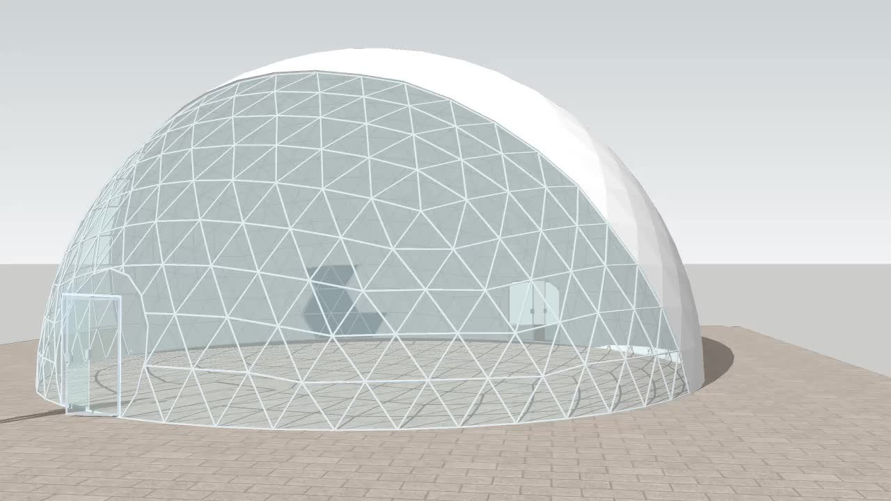 GSD-8 8m diameter large geo dome transparent tent for sale